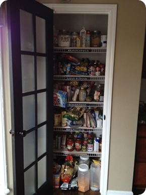 wire shelves pantry