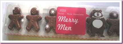Marks and Spencer Merry Men Chocolate Gingerbreadmen