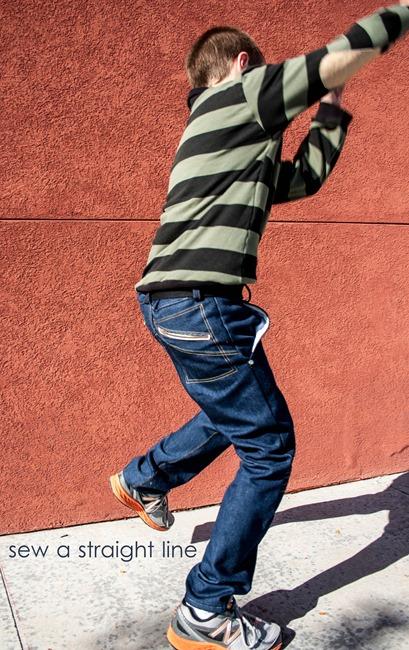 w pants pleated knees sew a straight line-1-2