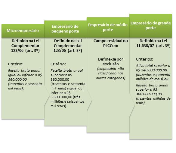 classificação dos empresários segundo o porte