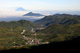 On Gn Prau - view of Dieng Plateau together with Slamet and Ciremai (Jia Hao, July 2010)