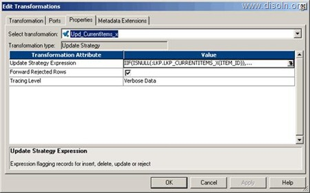 Data Manipulation Using Update Strategy in Informatica PowerCenter