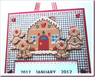 Gingerbread Man Calendar 2012