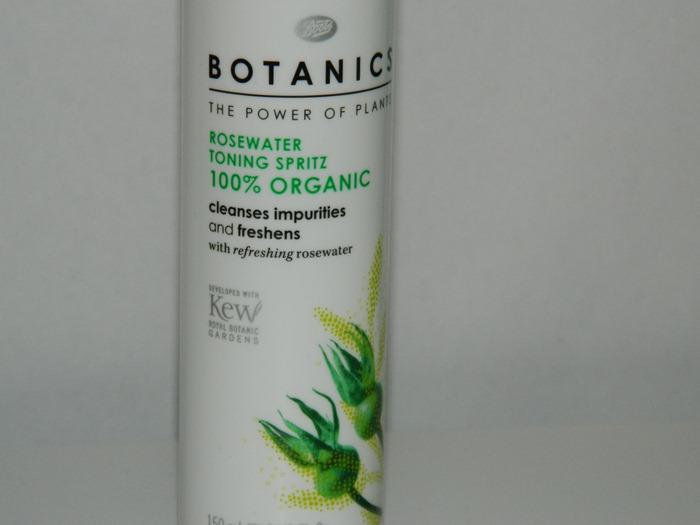 Boots Botanics Rosewater Toning Spritz Organic