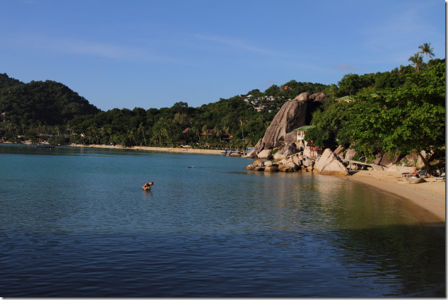 Secluded, yet popular Freedom Beach at Koh Tao's southern most tip