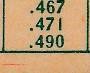1959 Topps 384 Dave Sisler back variation 3
