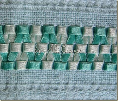 2005 - pano de prato - bordado em fita