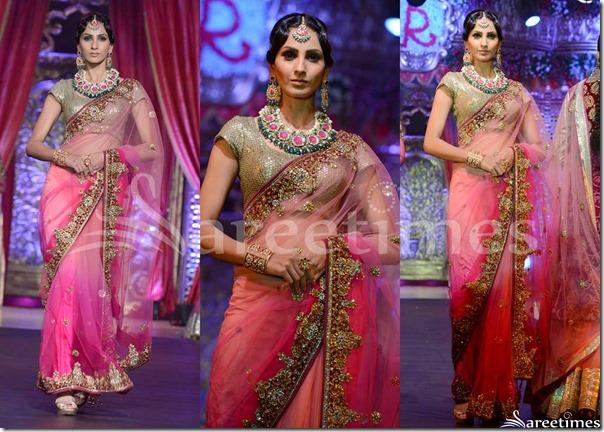 Vikram_Phadnis_Pink_Saree