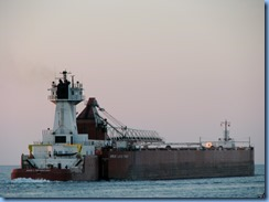 3744 Ontario Sarnia - Lake Huron at sunset - Great Lakes Trader barge being pushed by the tug Joyce L. VanEnkevort