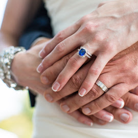 Blue Diamond by Mike Lesnick - Wedding Other ( french manicure, husband and wife, hands, jewelry, wedding rings )