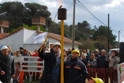 Juan Pablo de Jesús inauguró extensión de red de gas en el Barrio Rocco de Mar de Ajó