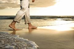 descalço praia