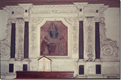 Le retable de la chapelle de Gesvres (17e siècle) avant l'incendie qui le détruisit