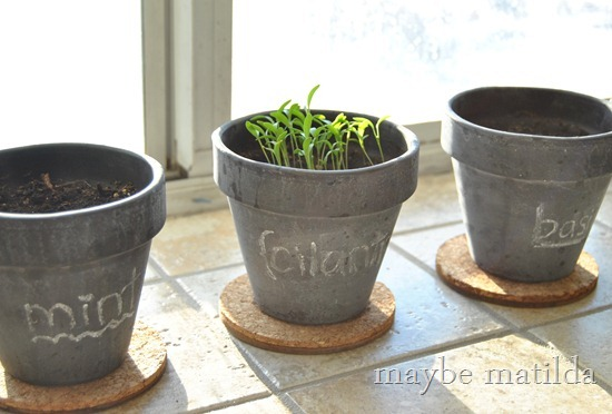 How to make chalkboard herb pots