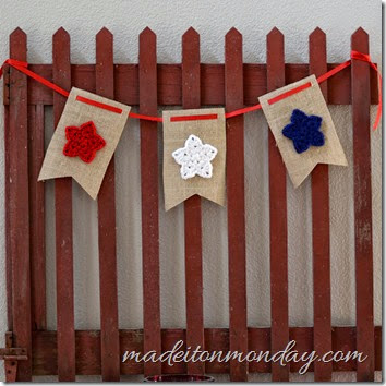 burlap and stars red white blue bunting garland pennants