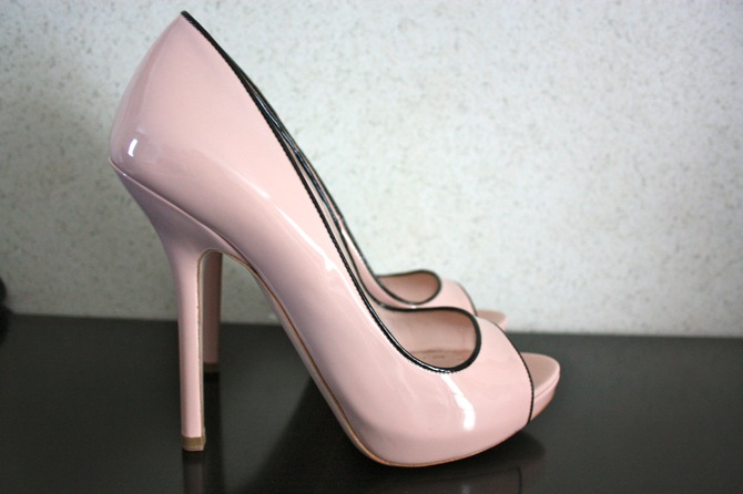miu miu shoes, pale pink