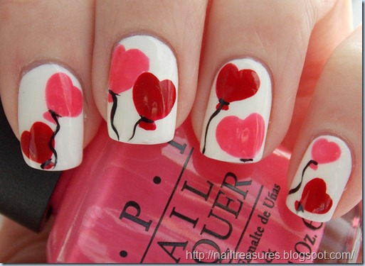 Nail treasures valentine heart balloon nail art dscn1917 prinsesfo Choice Image