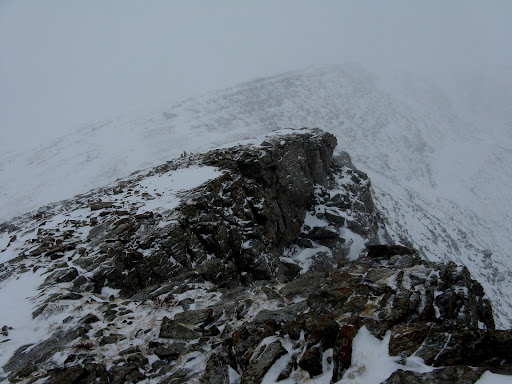 Our summit is up there somewhere!