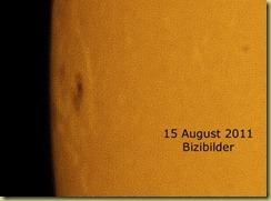 15 Aug 2011 Sunspot