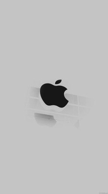 Apple logo white glass iphone6 wallpaper