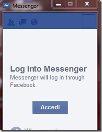 Facebook Messenger Accedi