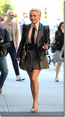 Hayden Panettiere Sexy Stylish Leather Jacket WpfEaYSeoOFl