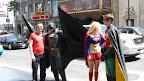 Quittons le parc d'attraction pour Los Angeles et son célèbre Hollywood bd, où des super héros vivent le rêve américain en posant avec les touristes pour 1 dollar.