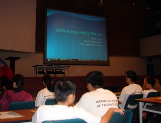 MCCID students took part in the web accessibility forum.