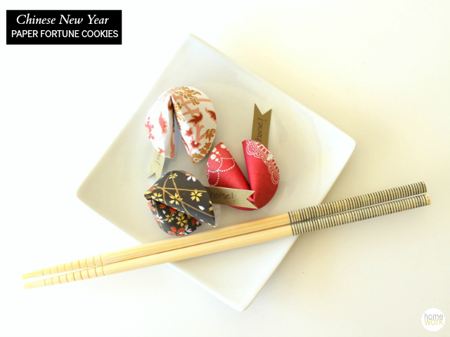 Chinese New Year Paper Fortune Cookies via homework  | carolynshomework