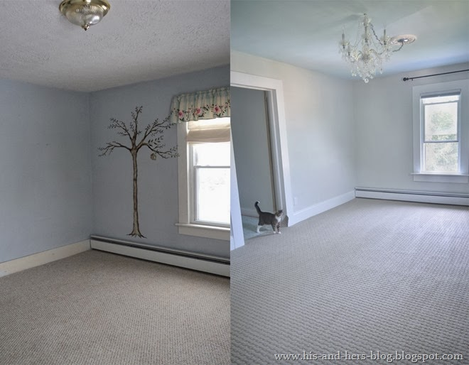 bedroom carpet makeover