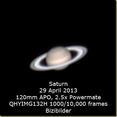 29 April 2013 Saturn