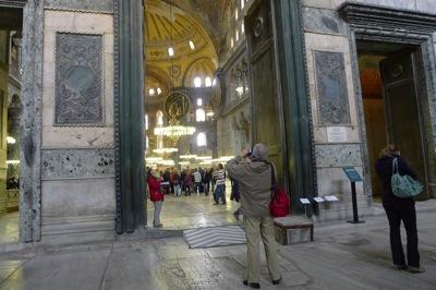 Entering Hagia Sophia