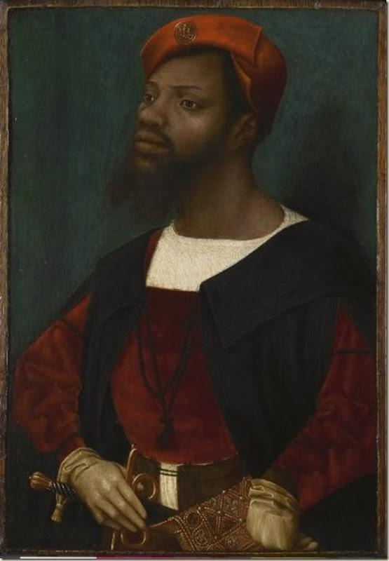 Jan Mostaert, Portrait d'homme noir