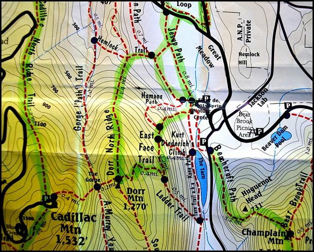 00 - Map - Dorr Mountain Summit Hike