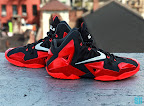 nike lebron 11 gr black red 8 07 New Photos // Nike LeBron XI Miami Heat (616175 001)