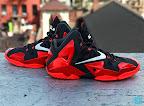nike lebron 11 gr black red 8 07 New Photos // Nike LeBron XI Miami Heat (616175 001)