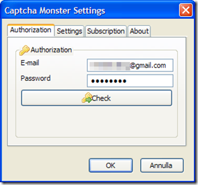 Captcha Monster Authorization
