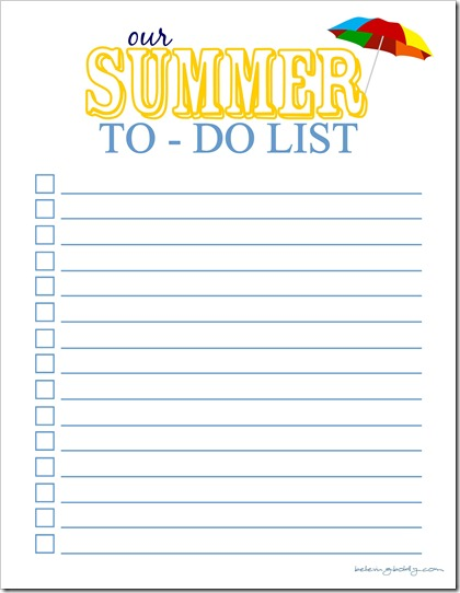 Summer To Do List 2 - SJB