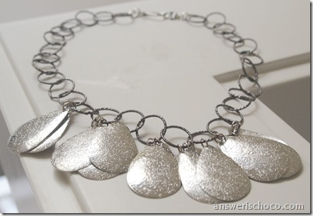 Teardrop Metal Necklace 3