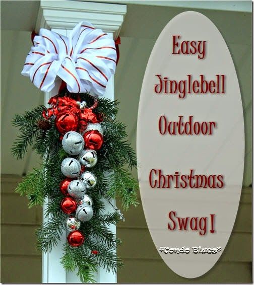 how to make an outdoor jinglebell evergreen christmas - Christmas Swag Decorations