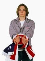 flag and boy