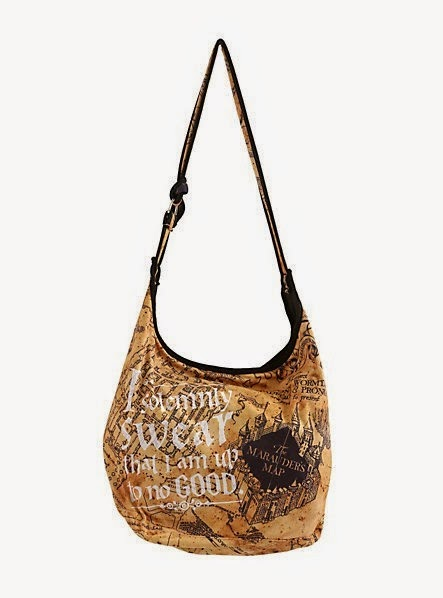 Harry Potter Marauders Map Hobo Bag from Hot Topic