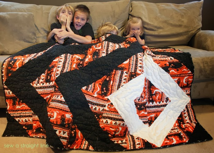 halloween quilt glow in the dark sew a straight line-5