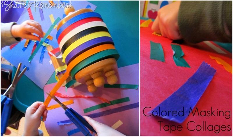 masking tape in preschool