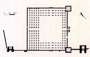 Ground plan of the al-Hakim Mosque in Cairo, 990-1013.