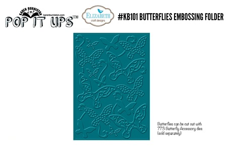 kb101 Butterflies Embossing Folder