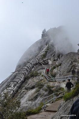 Climbing up Moro Rock
