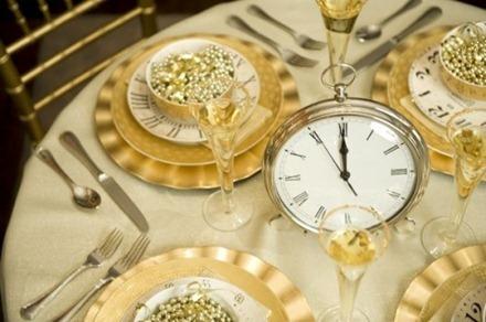 Nyårsdukning med klockor, Sandy Alamonde