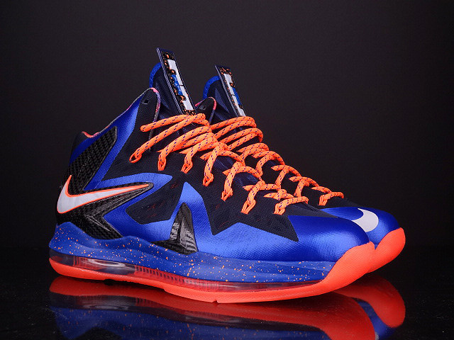 Nike Lebron James X PS Elite Blue Black Orange Shoes