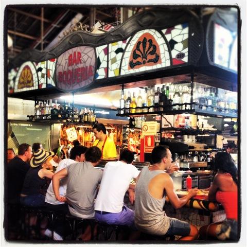 bar boqueria at la Boqueria